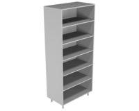 Шкаф для документов, открытый стеллаж без дверей НВ-800 ШД-О (800*460*1820)