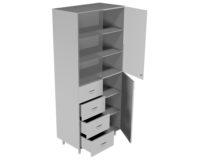 Шкаф для лабораторной посуды НВ-800 ШП (800*460*1820)