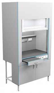Шкаф вытяжной без сантехники ШВ НВК 1200 НЕРЖ (1200x716x2200)