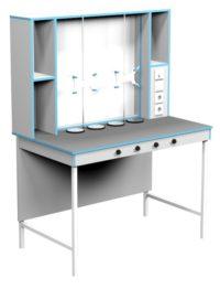 Стол для титрования СТ НВК 1200 ПЛАСТ (1200x700x1650)