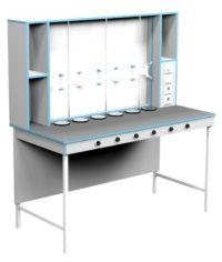 Стол для титрования СТ НВК 1500 ПЛАСТ (1500x700x1650)