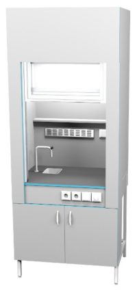 Шкаф вытяжной с сантехникой ШВ НВК 900 ПЛАСТ+ (900x716x2200)