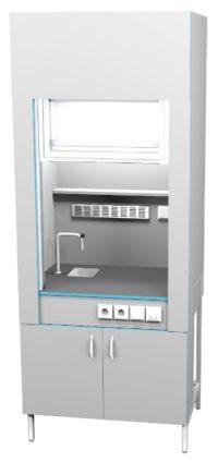 Шкаф вытяжной с сантехникой ШВ НВК 900 ПП+ (900x716x2200) - КОПИЯ