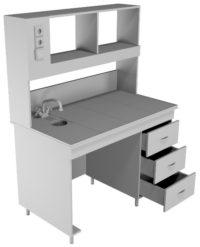 Стол пристенный химический НВ-1200 ПКХ (1218*700*1650)