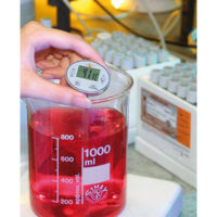 Водонепроницаемый мини-термометр Testo с защитным рукавом для наконечника зонда