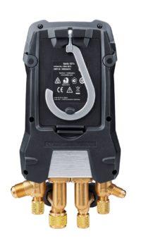 testo 557s Комплект 2 с заправочными шлангами - Умный цифровой манометрический коллектор, смарт-зонды вакуума и температуры и набор из четырёх заправочных шлангов (0564 5572)